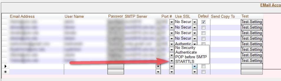 Smtp address support TLS for Hosted Microsoft Exchange on
